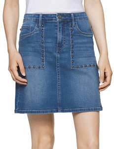 Calvin Klein Jeans Stud Accented Denim Skirt