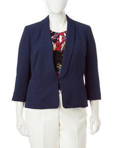 Kasper Plus-size Shawl Collar Jacket
