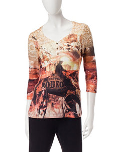 Rebecca Malone Canyon Rodeo Print Top