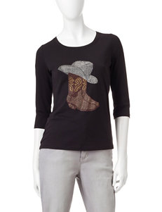 Rebecca Malone Embellished Cowboy Boot & Hat Top
