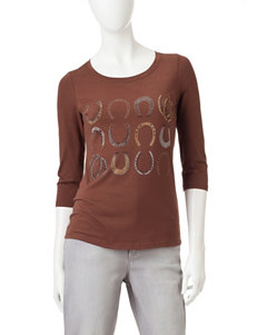 Rebecca Malone Embellished Horseshoes Top