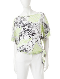 Hearts of Palm Embellished Asymmetrical Top