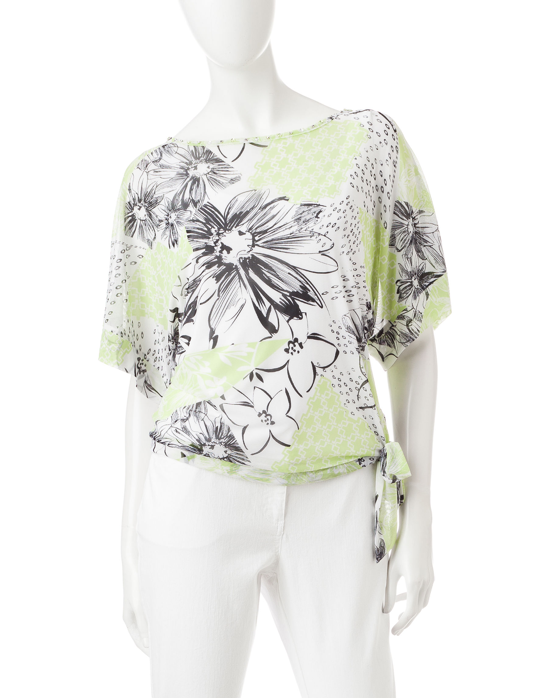 Hearts of Palm Green Shirts & Blouses