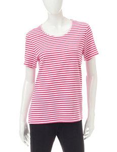 Rebecca Malone Pink / White Shirts & Blouses