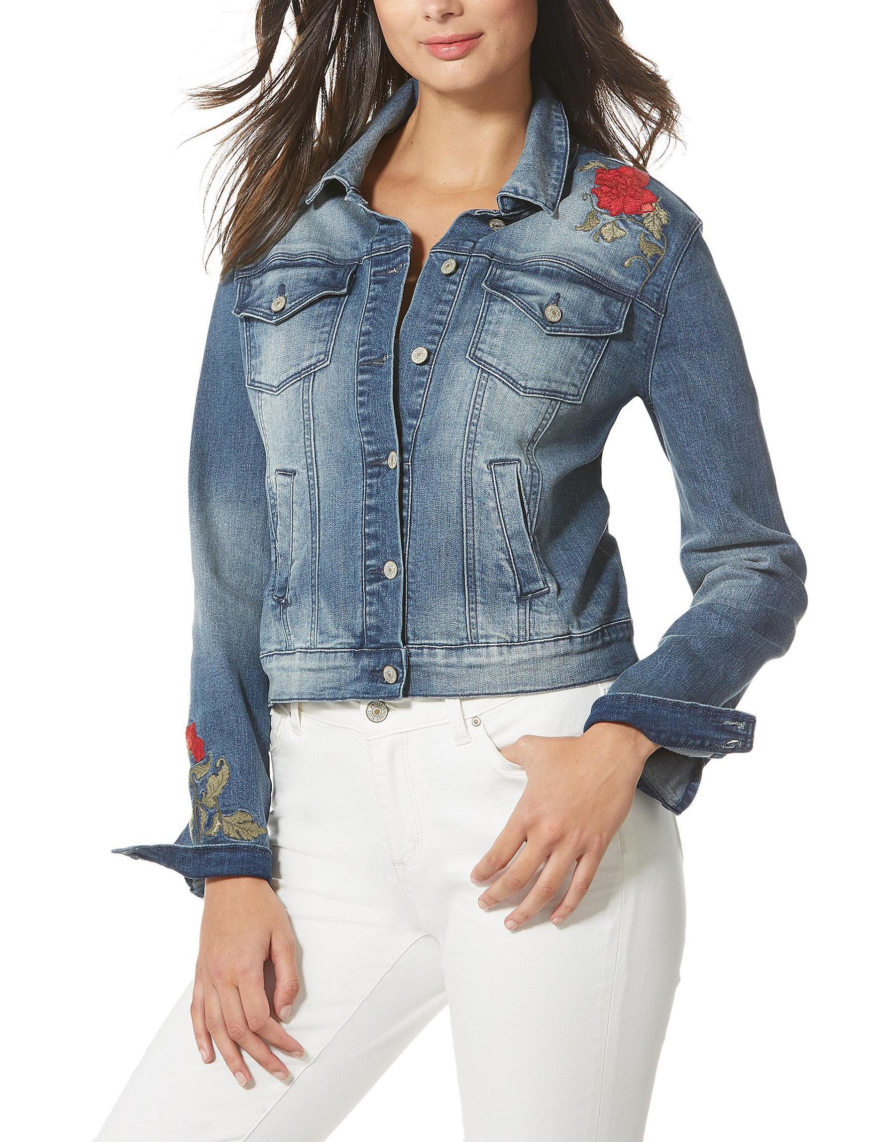 Vintage America Blues Medium Wash Denim Jackets