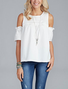 Democracy Ruffle Cold-Shoulder Top