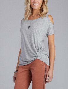 Democracy Cold-Shoulder Gathered Top