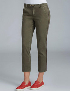 Democracy Double Button Cropped Trouser Pants