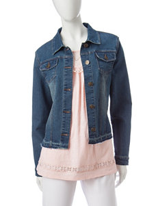 Hannah Dark Wash Denim Jackets