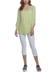Skyes The Limit Green Shirts & Blouses