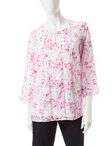 Valerie Stevens Red / White Shirts & Blouses
