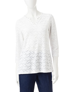Alfred Dunner White Shirts & Blouses
