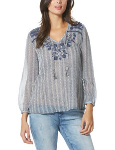 Vintage American Blues Embroidered Top