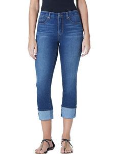 Bandolino Millie Cuffed Slim Capri Jeans