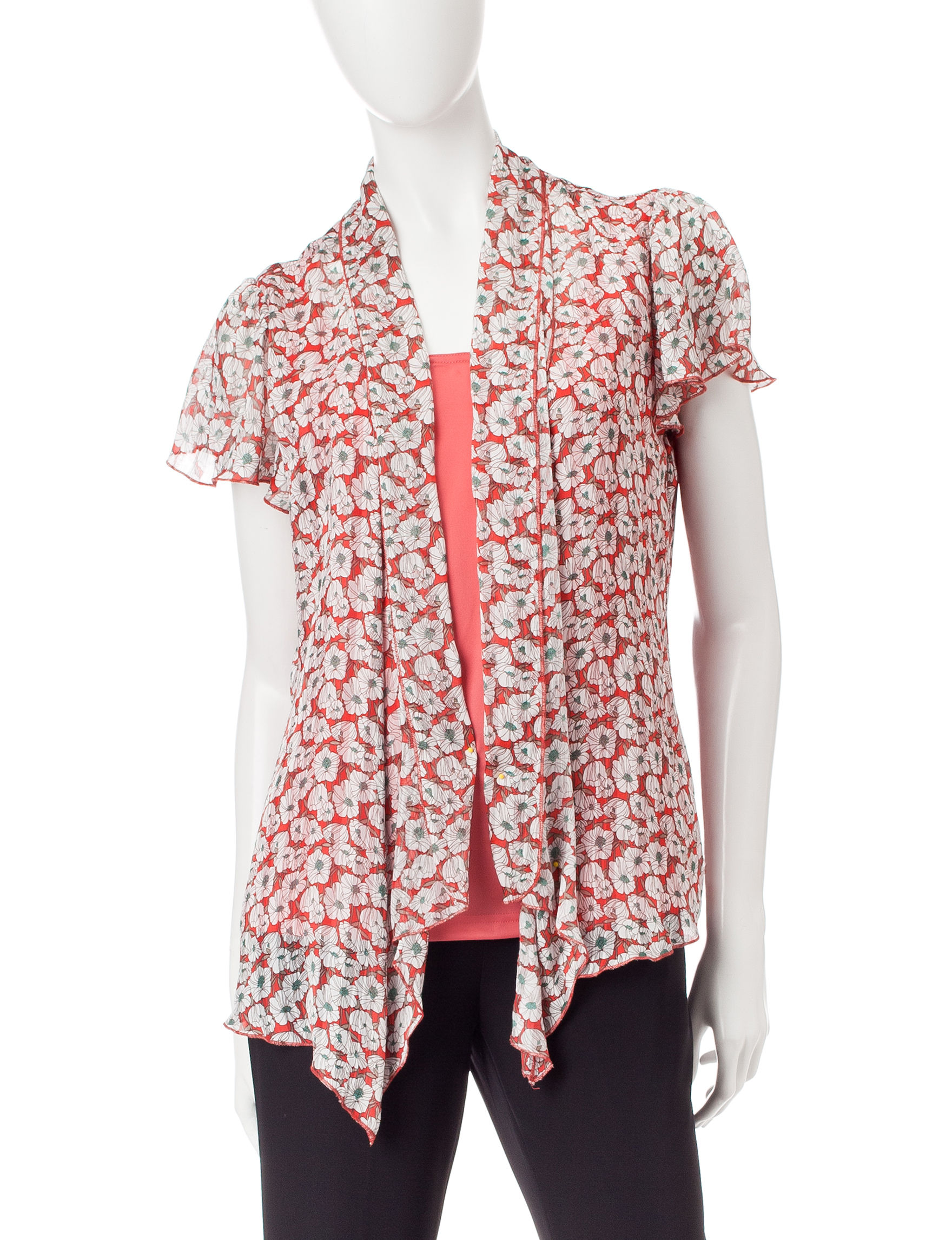 Sara Michelle Pink Multi Shirts & Blouses