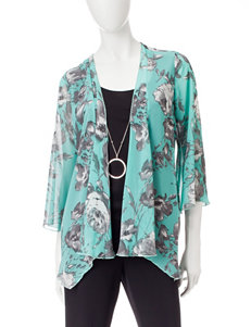 Sara Michelle Green Multi Shirts & Blouses