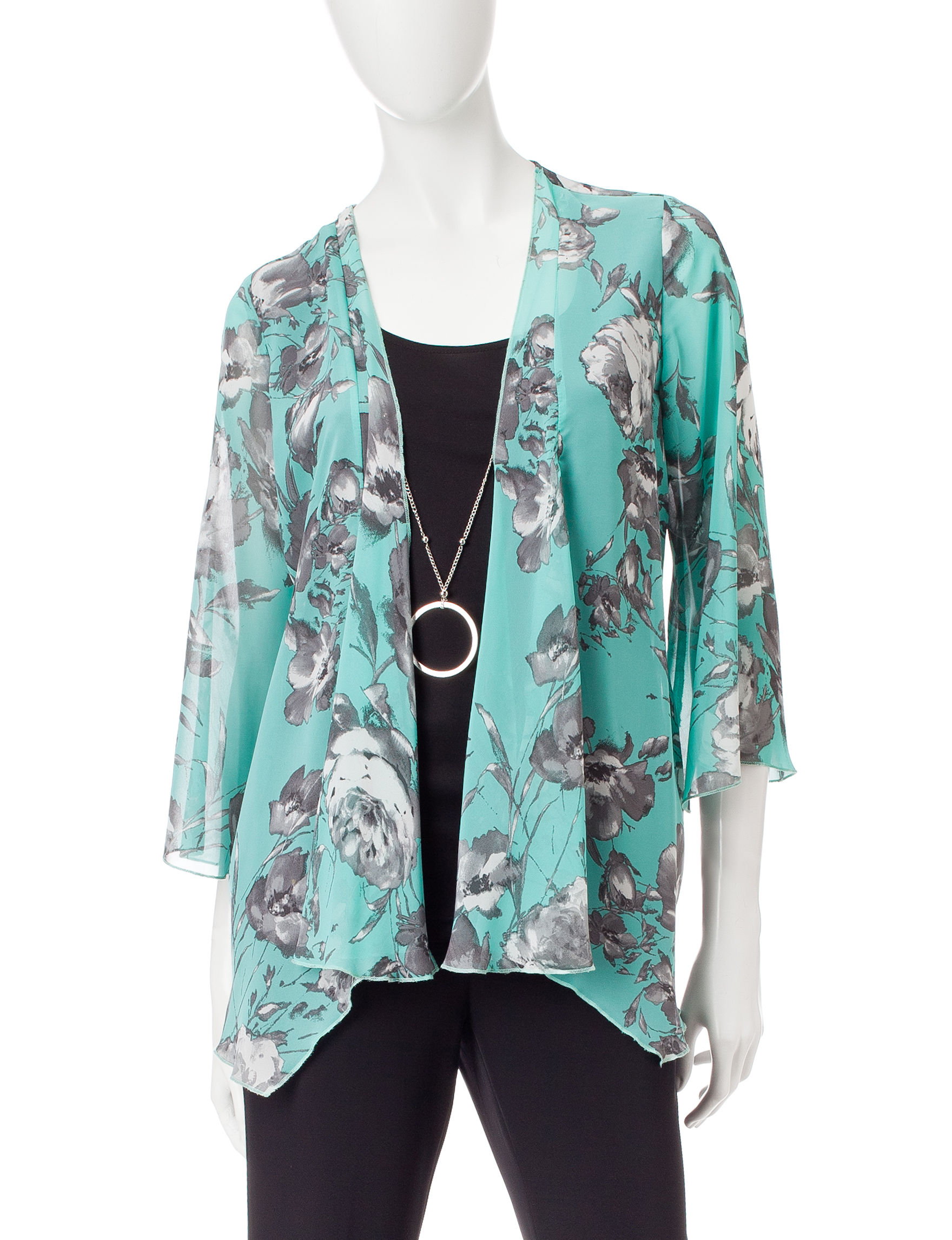 Sara Michelle Green Multi Shirts & Blouses