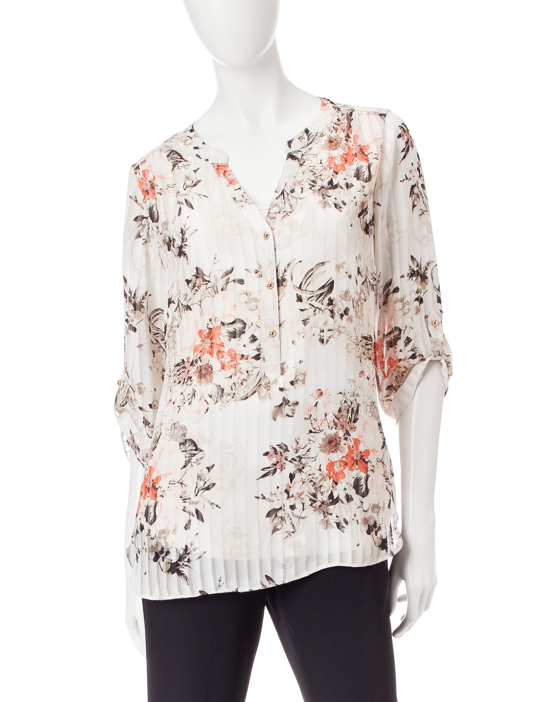 Sara Michelle Tan Multi Shirts & Blouses