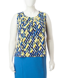 Kasper Blue Multi Camisoles & Tanks