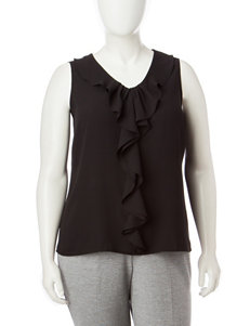 Kasper Plus-size Ruffle Top