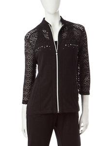 Onque Casuals Rhinestone Embellished Lace Jacket