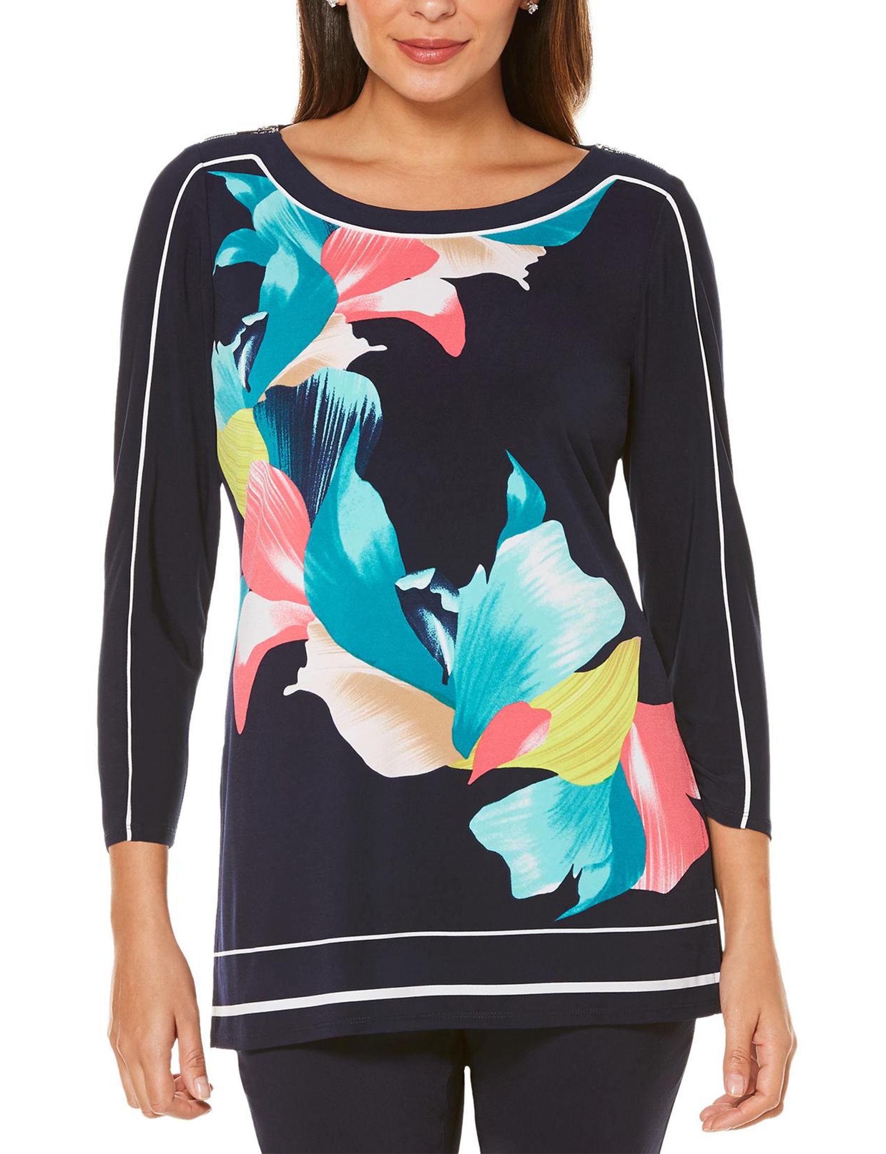 Rafaella Navy Shirts & Blouses