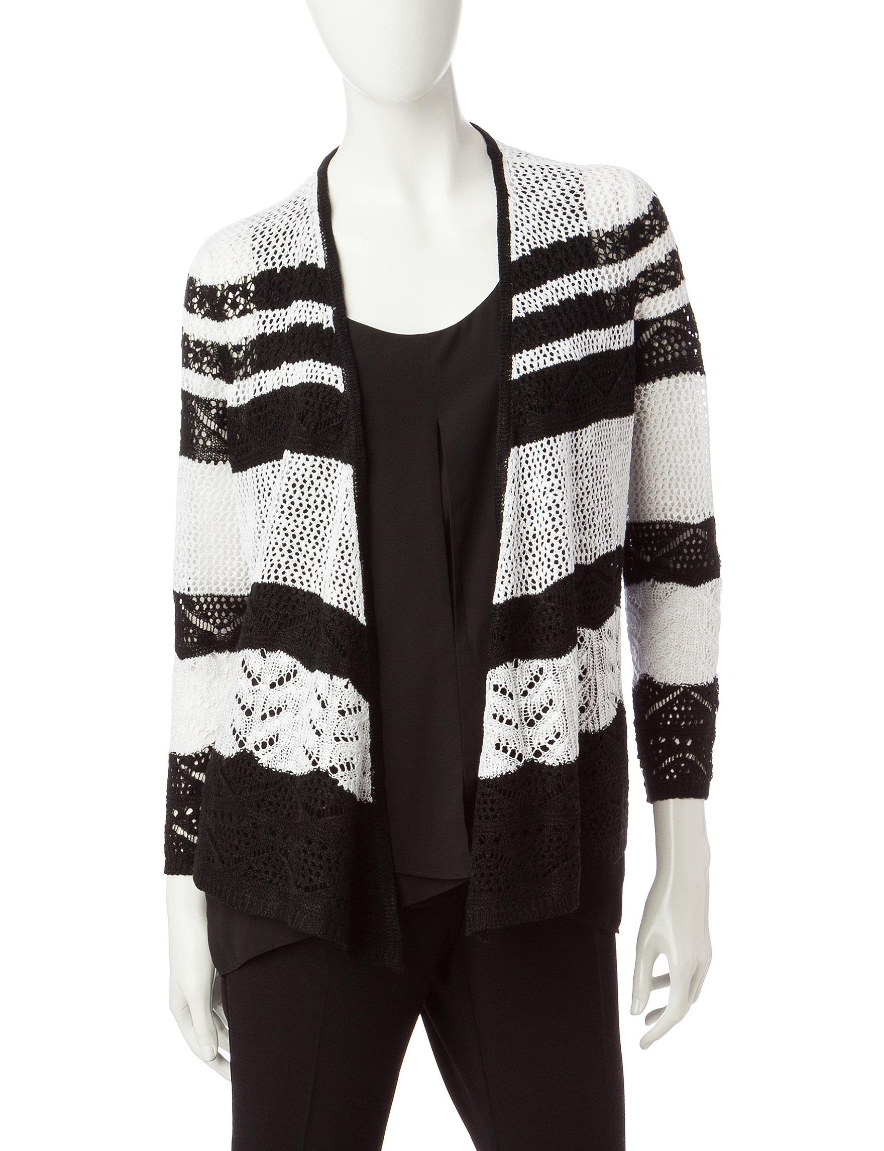 Hannah Black/ White Cardigans Sweaters