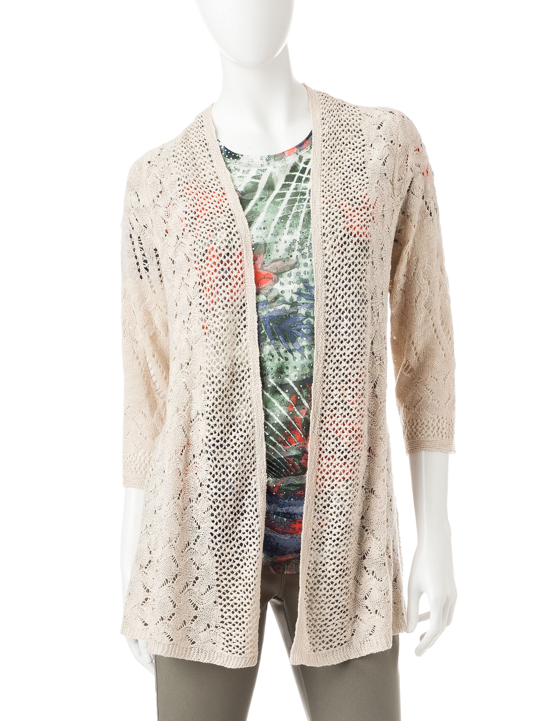 Hannah Beige Cardigans Sweaters