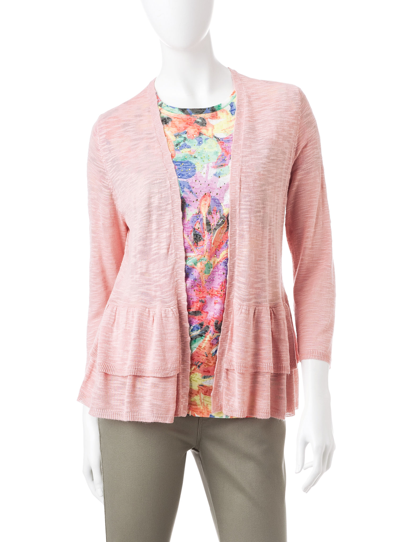Hannah Pink Cardigans Sweaters