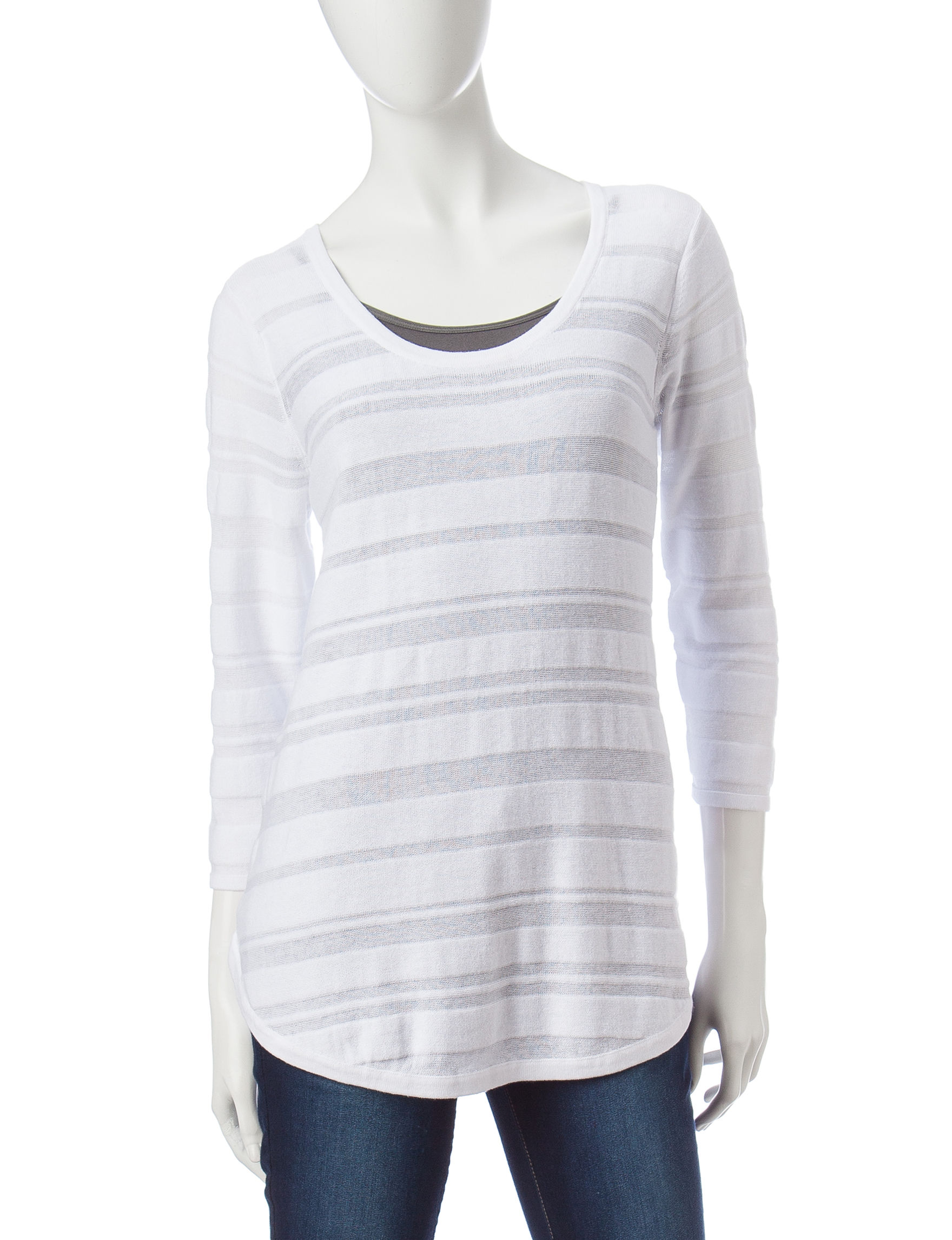 Hannah White Pull-overs Sweaters