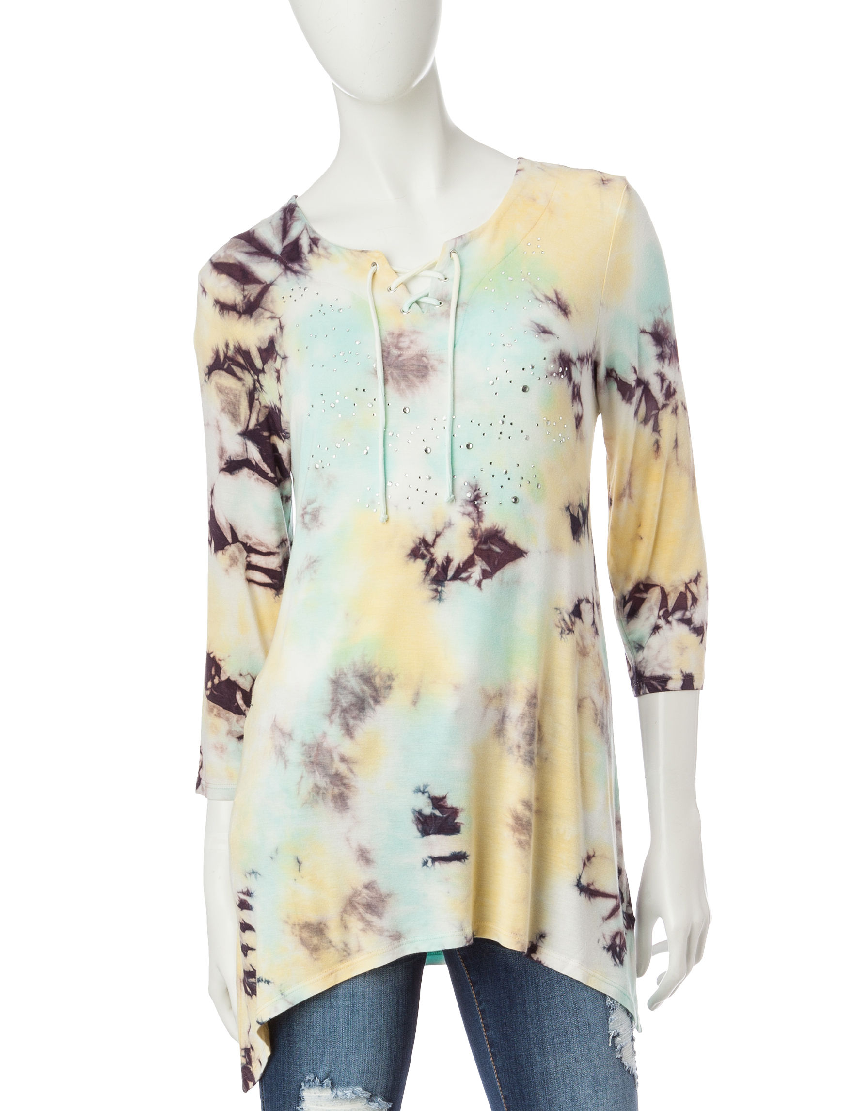 Onque Casuals Yellow Shirts & Blouses