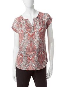 Valerie Stevens Red / Grey Shirts & Blouses