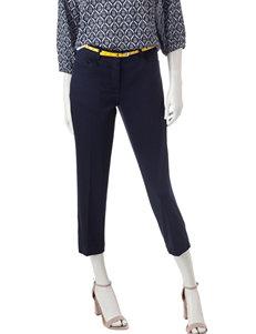 Rafaella Pique Belted Capri Pants