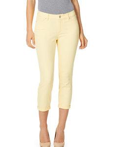 Vintage America Blues Yellow Capris & Crops Soft Pants