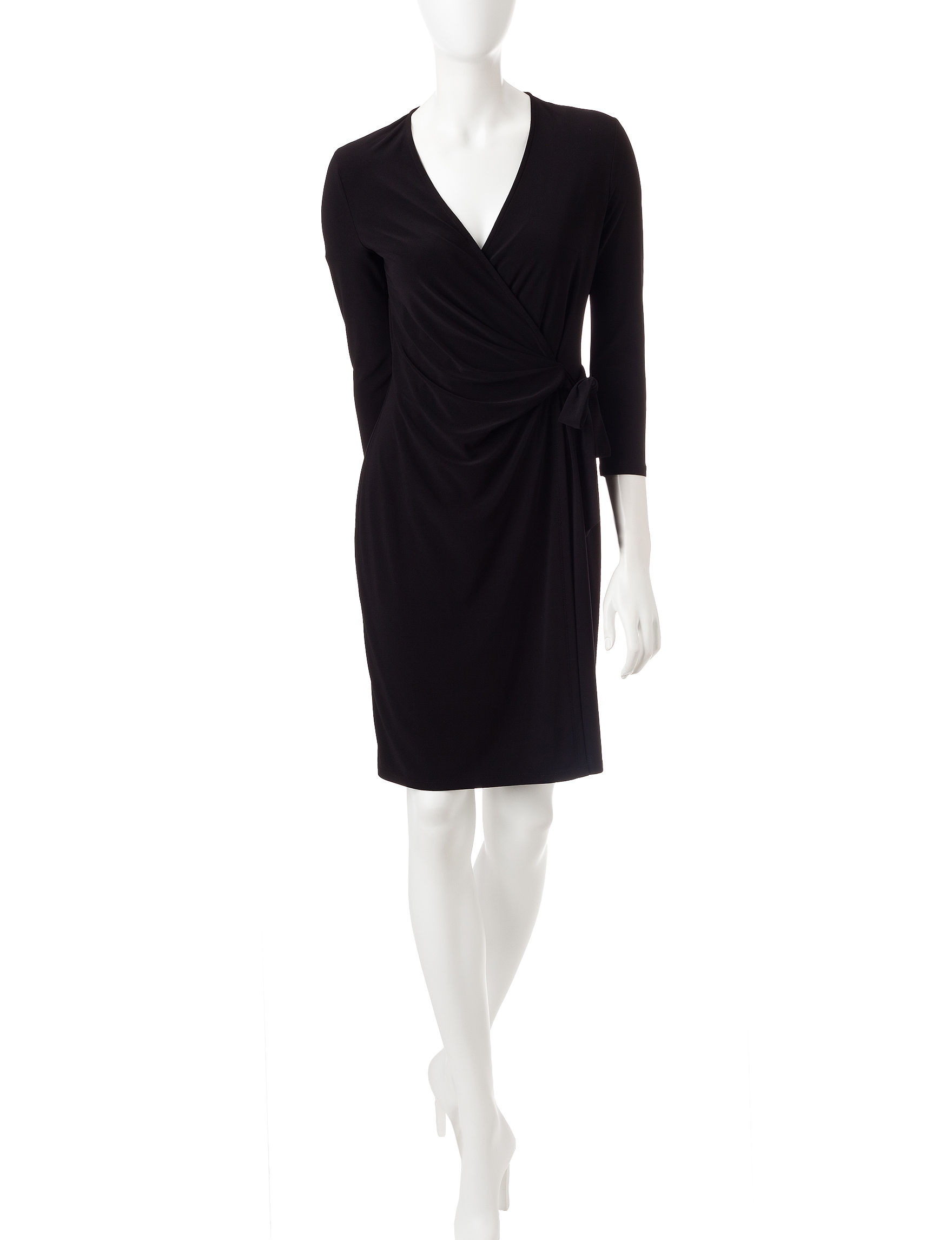 Anne Klein Black Evening & Formal Fit & Flare Dresses