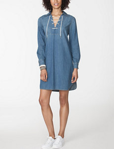 Chaps Blue Everyday & Casual Shirt Dresses