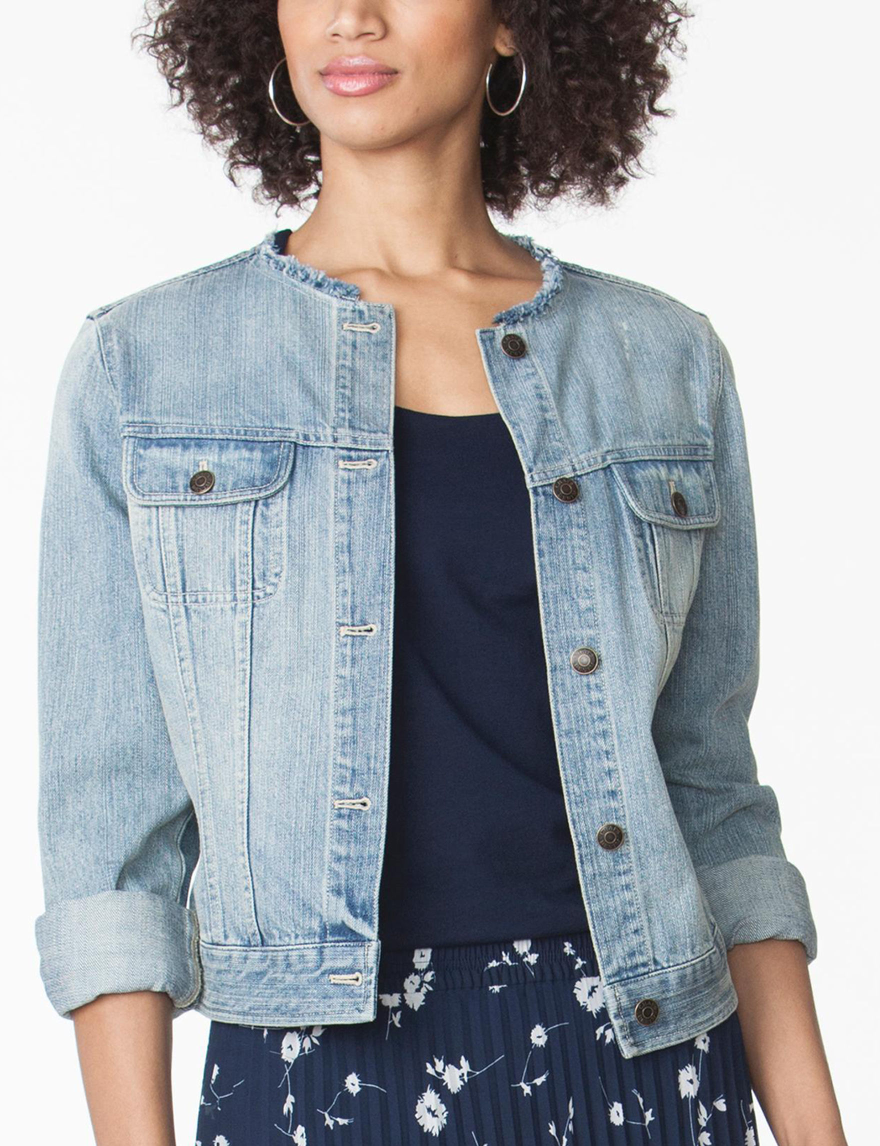 Chaps Blue Denim Jackets