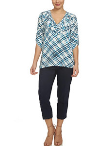 Chaus Blue / Black Shirts & Blouses