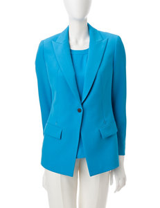 Anne Klein Blue Lightweight Jackets & Blazers