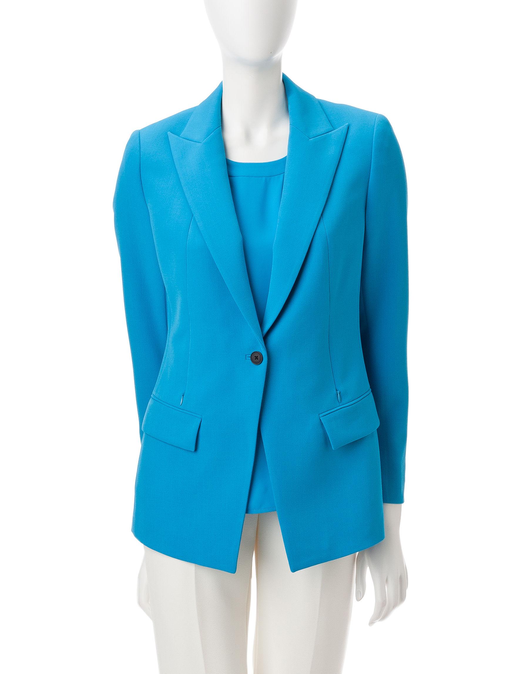 Anne Klein Blue Lightweight Jackets & Blazers