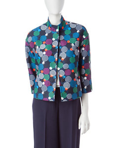 Anne Klein Navy Multi Lightweight Jackets & Blazers