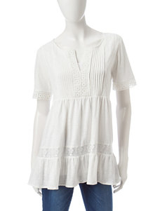 Hannah Lace & Ruffle Tiered Top