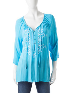 Hannah Embroidered Peasant Top