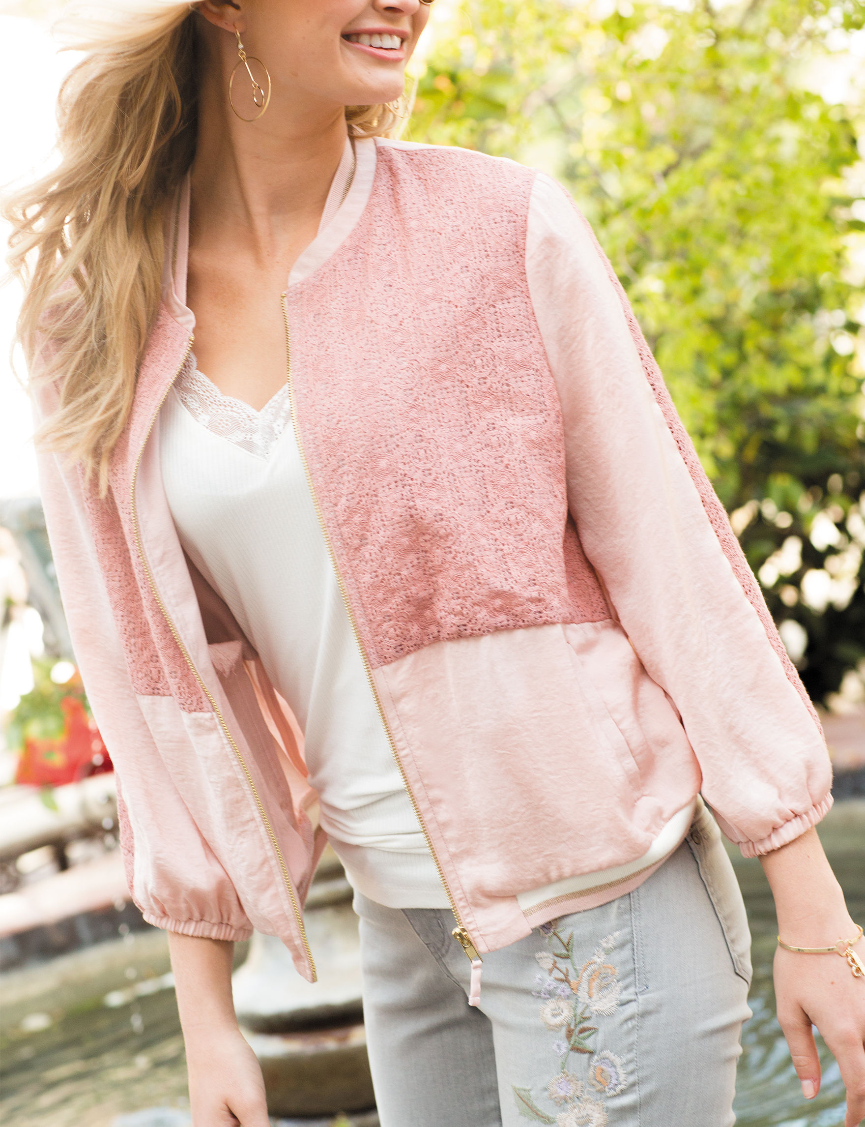 Democracy Pink Bomber & Moto Jackets