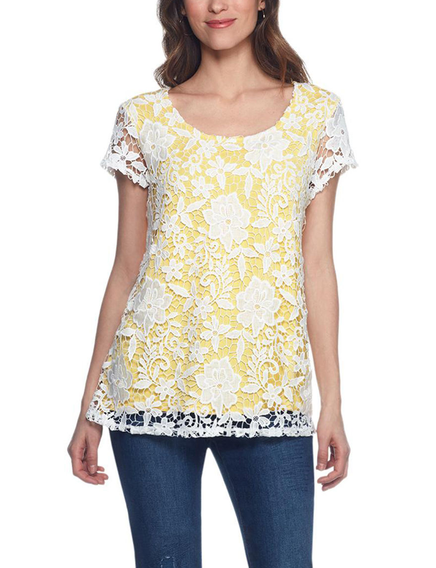 Skyes The Limit Yellow Shirts & Blouses
