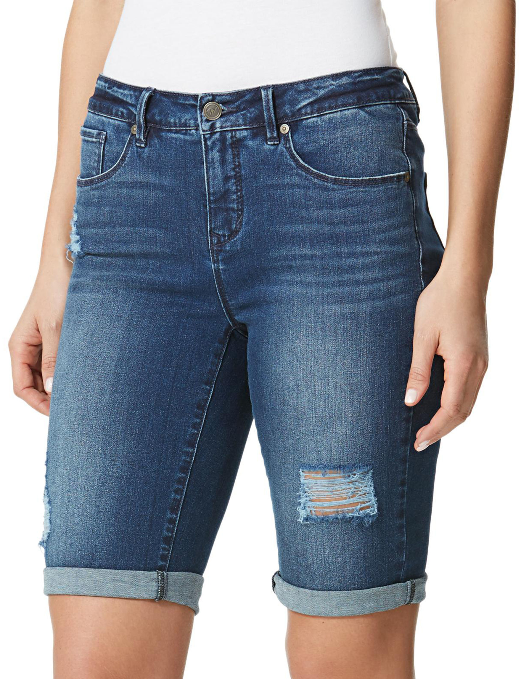 Miracle Jean Blue Denim Shorts