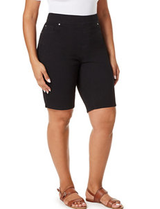 Gloria Vanderbilt Black Denim Shorts