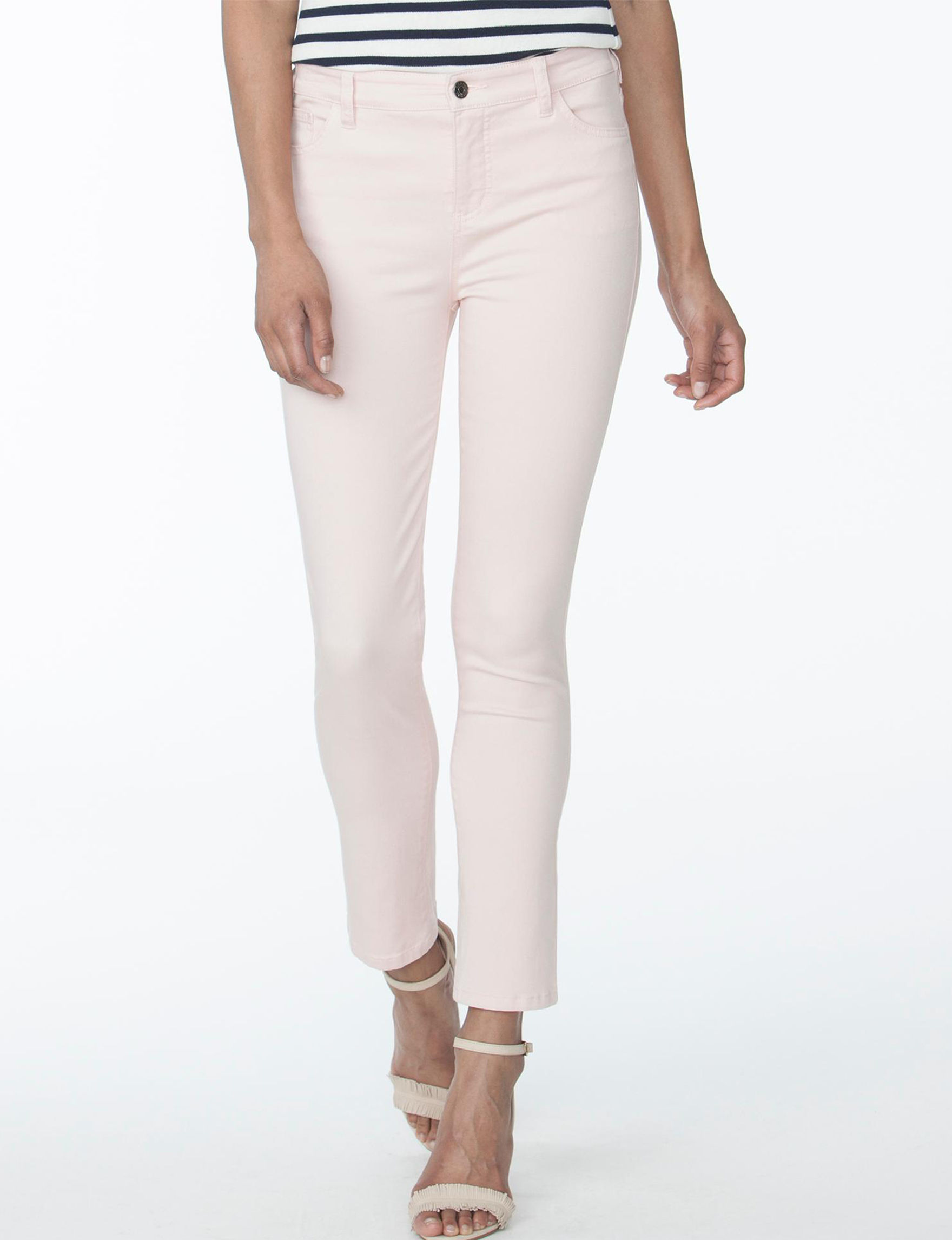 Chaps Pink Capris & Crops Skinny