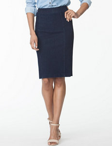 Chaps Knit Denim Pencil Skirt