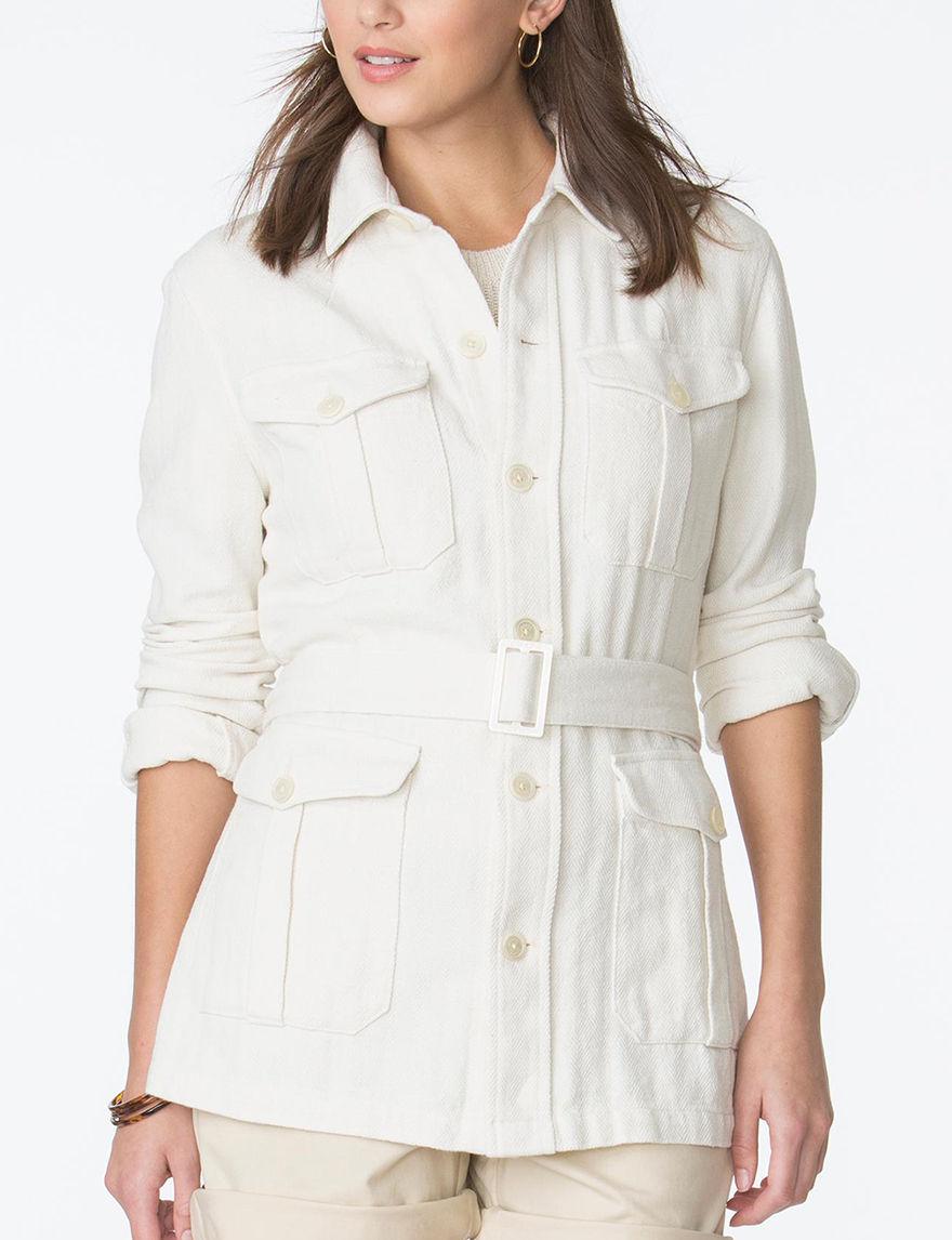 Chaps Cream Lightweight Jackets & Blazers